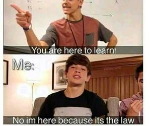 funny, school, and hayes grier image