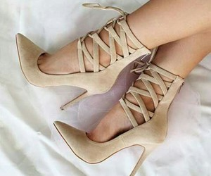 beige, shoes, and higheels image