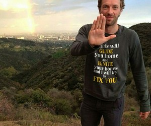 Chris Martin, fix you, and coldplay . image