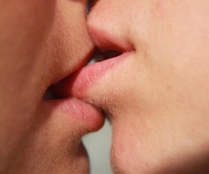 kiss, love bites, and Relationship image
