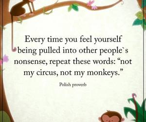 quote, life, and monkey image
