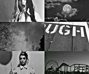aesthetic, black and white, and cry baby image