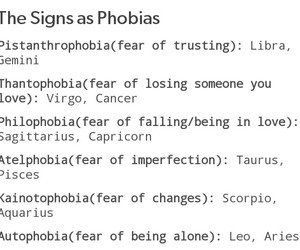 astrology, phobias, and scared image