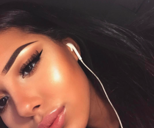 flawless, girl, and highlighter image