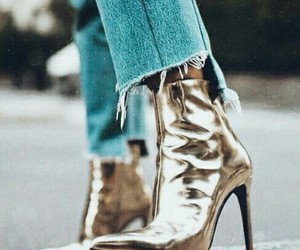 fashion, boots, and gold image