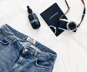accessories, beauty, and denim image