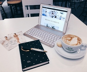 book, coffee, and fancy image