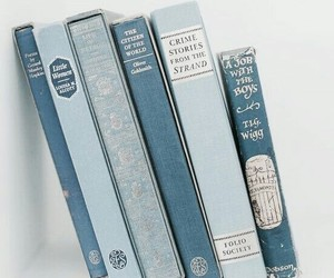 books, aesthetic, and blue image