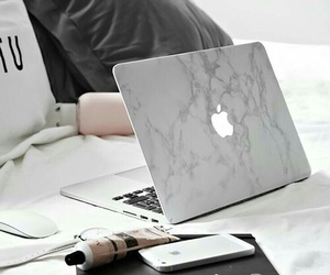 apple, marble, and grey image