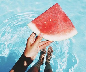 fitness, watermelon, and girl image