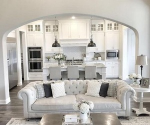 living room, home, and grey image