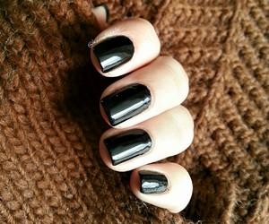 black, nail art, and style image