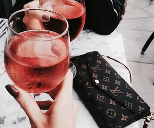 drink, wine, and Louis Vuitton image