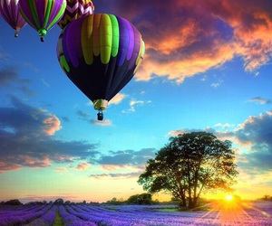nature, sky, and balloons image