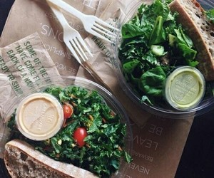 food, healthy, and salad image