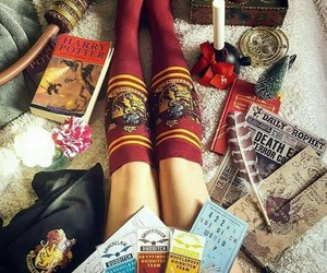 books, love, and harry potter image