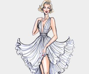 dress, hayden williams, and Marilyn Monroe image
