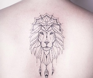 tattoo, tatuagem, and liontattoo image