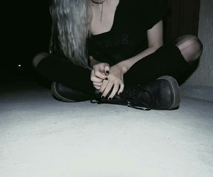 grunge, aesthetic, and black image