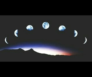 moon, phases, and in the night image