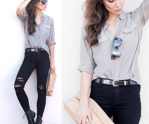 jeans, style, and outfits image