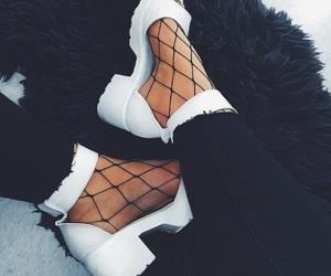 fashion, fishnet, and heels image