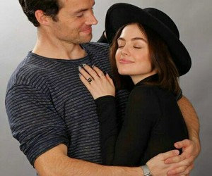 pretty little liars, lucy hale, and ezria image