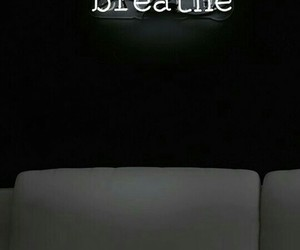 aesthetic, black, and breathe image