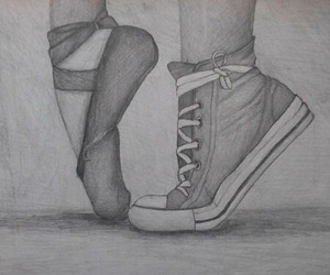 art, black and white, and convers image
