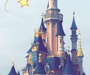 disney, chateau, and disneyland image