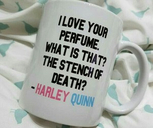 harley quinn, suicide squad, and coffee image