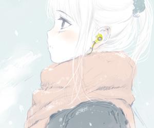 anime girl, art, and cold image
