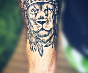 lion, tattoo, and tatuaje image
