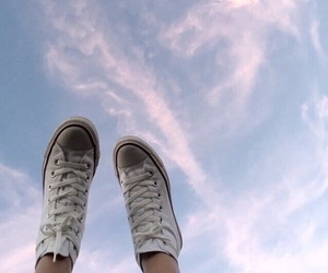 sky, converse, and aesthetic image