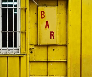 bar, yellow, and yellow building image