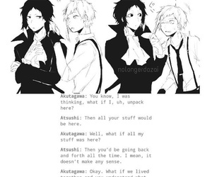 atsushi, funny, and akutagawa image