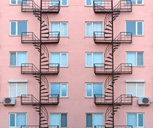architecture, building, and pink image
