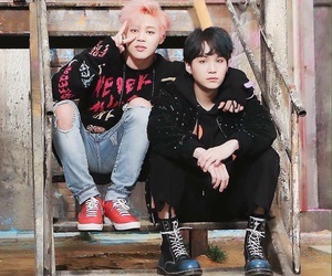 bts, jimin, and suga image