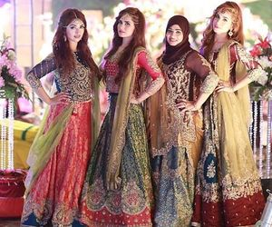 bride, shaadi, and friends image