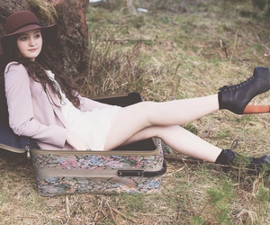 girl, hat, and pretty image