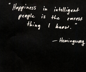 quote, happiness, and hemingway image