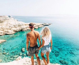 couple, summer, and love image