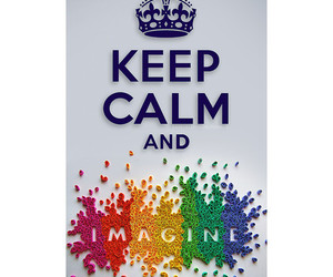 imagine, keep calm, and text image