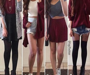 clothes, red, and girls image