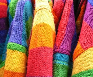 rainbow, sweaters, and textures image