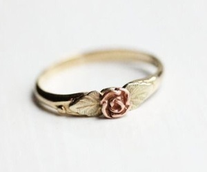 ring, rose, and gold image