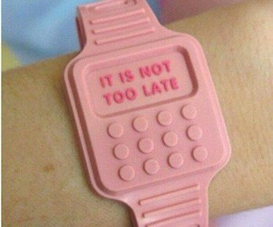 pink, watch, and Late image
