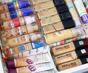 beauty, Maybelline, and storage image