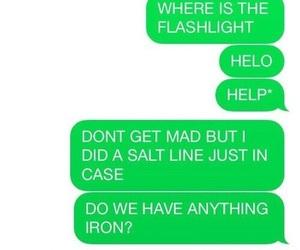 supernatural, funny, and salt image