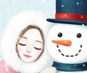 Enakei, illustration, and snow image